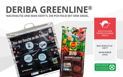 Deutscher Verpackungspreis für GREENLINE® Folie der DERIBA Group